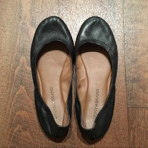 Lucky Brand | Emmie Black Flats Size 8